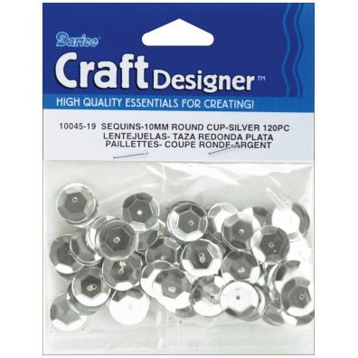 Darice Sequins 10 mm 120pc - Silver