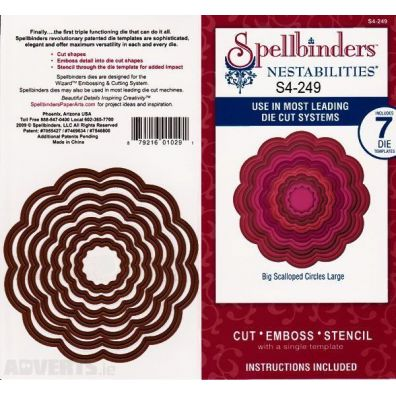 Spellbinders Nestabilities - Big Scalloped Circles Large