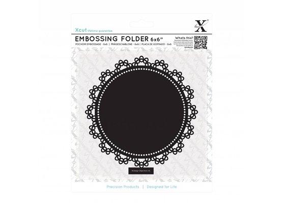 Xcut Embossingfolder Lace Circle