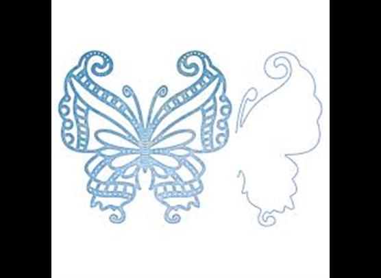 Cherry Lynn Dies - Mayan Butterfly & Angel Wings