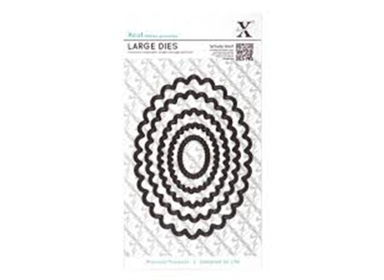 X-Cut Dies - Nesting Dies - Scalloped Oval
