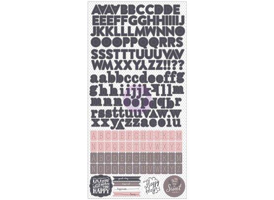 Prima Rose Quartz Alfabet Stickers