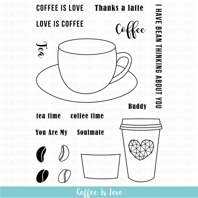 Krumspring Clear Stamp - Coffee is Love