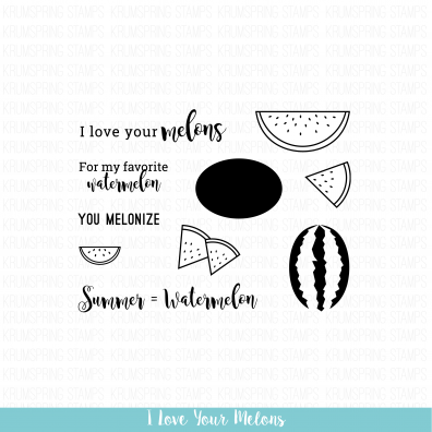 Krumspring Clear Stamp - I love your Melons
