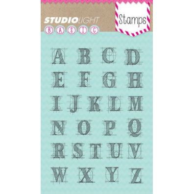 Studio Light Clear Stamp - Store bogstaver