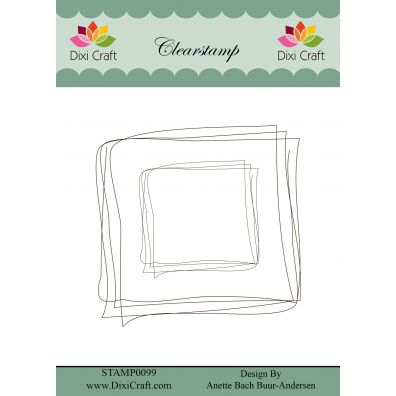 Dixi Craft Clear Stamp Sketch Square
