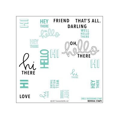 Concord & 9th Oh, Hello Turnabout Clear Stamp Set