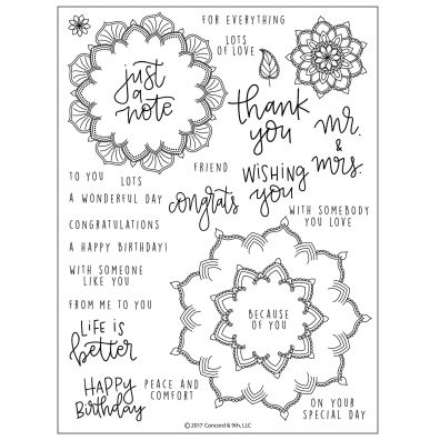 Concord & 9th Many Mandalas Clear Stamp Set
