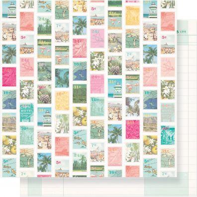 Oasis - Postcard mønsterpapir fra Crate Paper