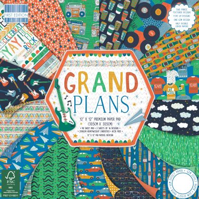 "First Edition Paper Grand Plans 12x12"" Paper Pad"