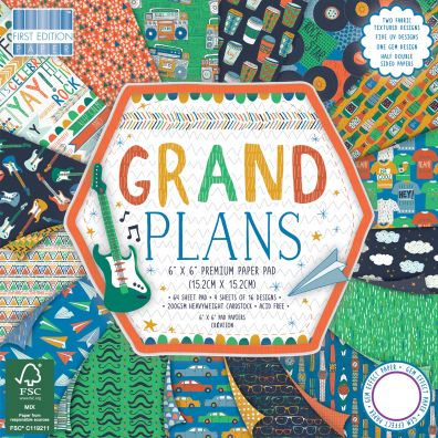 "First Edition Paper Grand Plans 6x6"" Paper Pad"