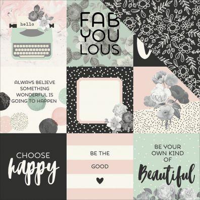 Beautiful - 4x4 Elements mønsterpapir fra Simple Stories