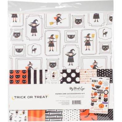 My Minds Eye Trick or Treat Paper and Accessories Kit