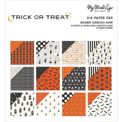 "My Minds Eye Trick or Treat 6x6"" Paper Pad"