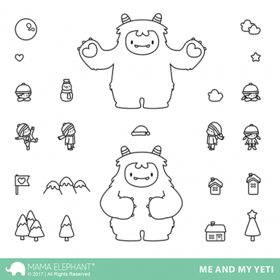 Mama Elephant Clear Stamps - Me and My Yeti