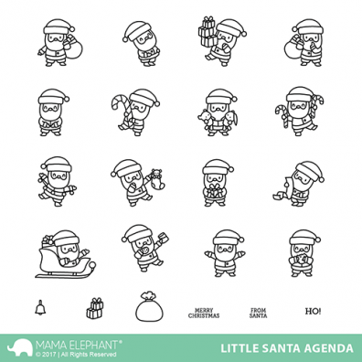 Mama Elephant Clear Stamps - Little Santa Agenda