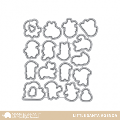 Mama Elephant Creative Cuts - Little Santa Agenda
