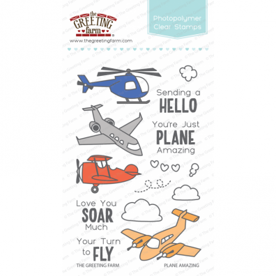 The Greeting Farm Clear Stamps - Plane Amazing