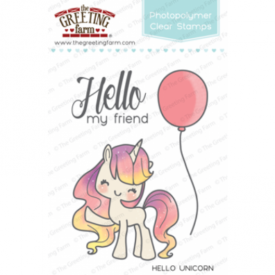 The Greeting Farm Clear Stamps - Hello Unicorn