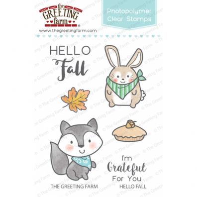 The Greeting Farm Clear Stamps - Hello Fall