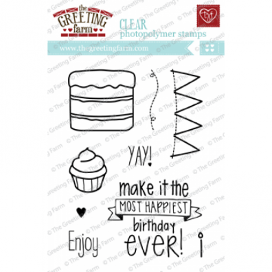 The Greeting Farm Clear Stamps - Happiest Birthday