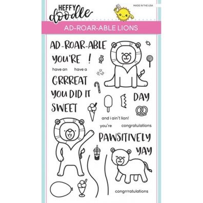 Heffy Doodle Clear Stamps - Ad-roar-able Lions