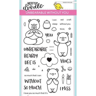 Heffy Doodle Clear Stamps - Unbearable Without You
