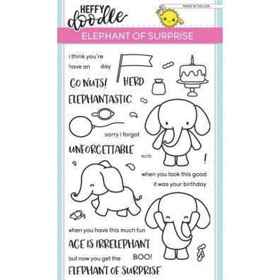 Heffy Doodle Clear Stamps - Elephant of Surprise