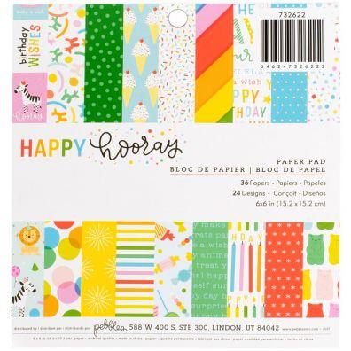 Pebbles Happy Hooray 6x6 paper pad