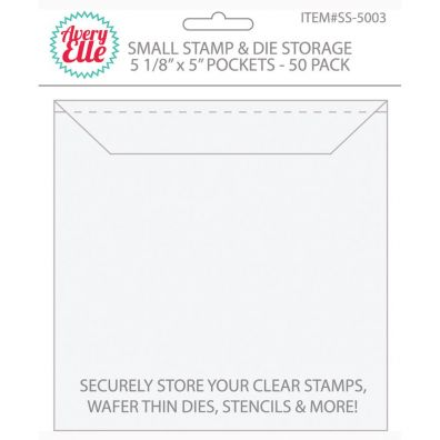 Avery Elle Stamp & Die Storage Pockets - Small 50/pk