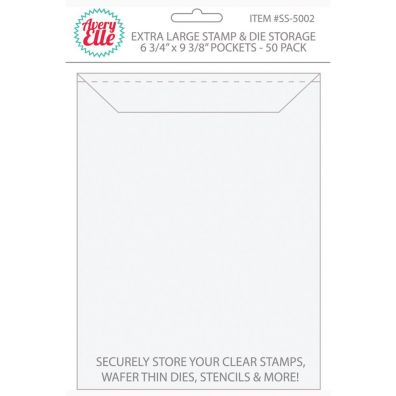 Avery Elle Stamp & Die Storage Pockets - X-large 50/pk