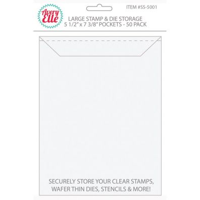Avery Elle Stamp & Die Storage Pockets - Large 50/pk