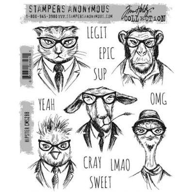 Tim Holtz Cling Stamp - Hipster