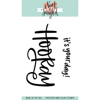 Neat & Tangled Clear Stamp - Hooray