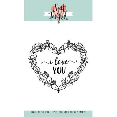 Neat & Tangled Clear Stamp - Floral Heart