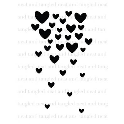 Neat & Tangled Clear Stamp - Falling Hearts