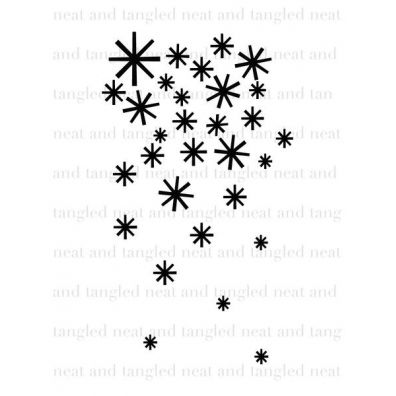 Neat & Tangled Clear Stamp - Falling Flakes