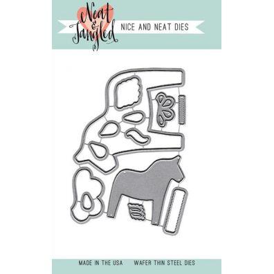 Neat & Tangled Dies - Dala Horse