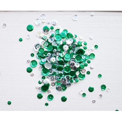 Neat & Tangled Sequins - Frosted Pine Mix