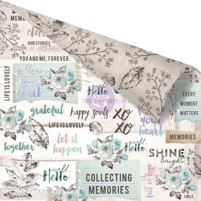 Zella Teal - Collect Memories mønsterpapir fra Prima