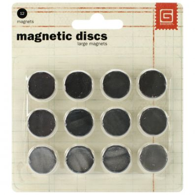 Basic Grey Magnet Discs large