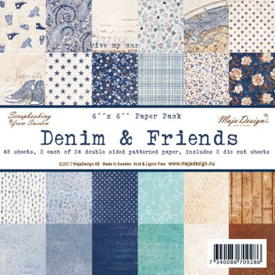Joyous Denim & Friends 6x6 Paperpad fra Maja Design