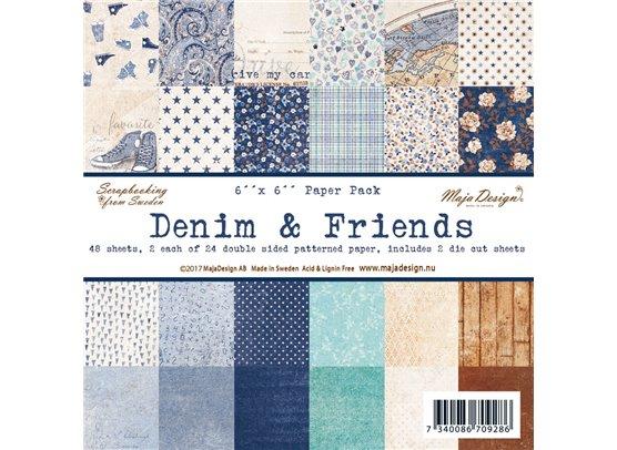 Joyous Denim & Friends 6x6 Paperpad fra Maja Design