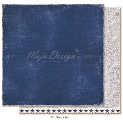 Denim & Friends - Worn Indigo Mønsterpapir fra Maja Design