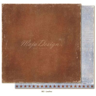 Denim & Friends - Leather Mønsterpapir fra Maja Design