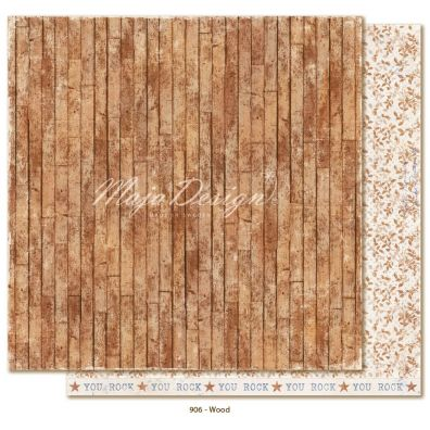 Denim & Friends -  Wood Mønsterpapir fra Maja Design