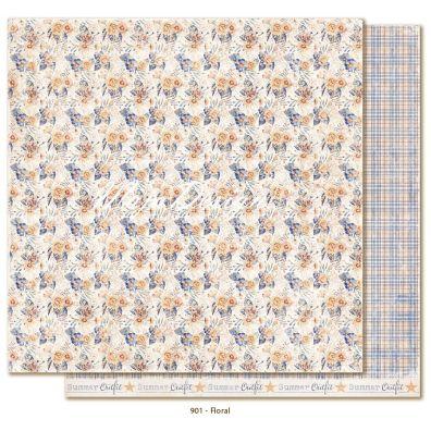 Denim & Friends - Floral Mønsterpapir fra Maja Design