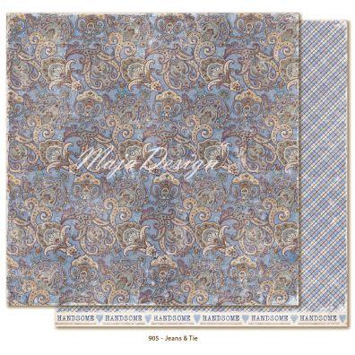 Denim & Friends - Jeans & Tie Mønsterpapir fra Maja Design