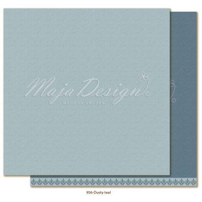Monochromes - Shades of Winterdays Dusty teal Mønsterpapir fra Maja Design