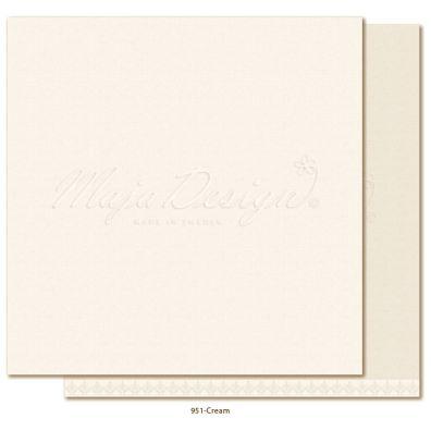 Monochromes - Shades of Winterdays Creme Mønsterpapir fra Maja Design